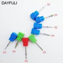 8 Type Diamond Nail File Drill Bit Burr Milling Cutter Manicure Electric Nail Drill Machine Nail Accessories