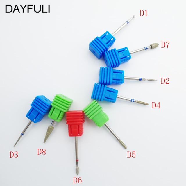 8 Type Tool Diamond Nail File Drill Bit Burr Milling Cutter Manicure ...