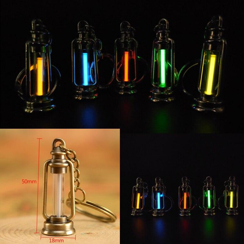 25 Years Tritium Gas Light Key Ring Key Chain Acrylic Anti Shock Automatic Luminous Fluorescence Glow Without Energy Tritium