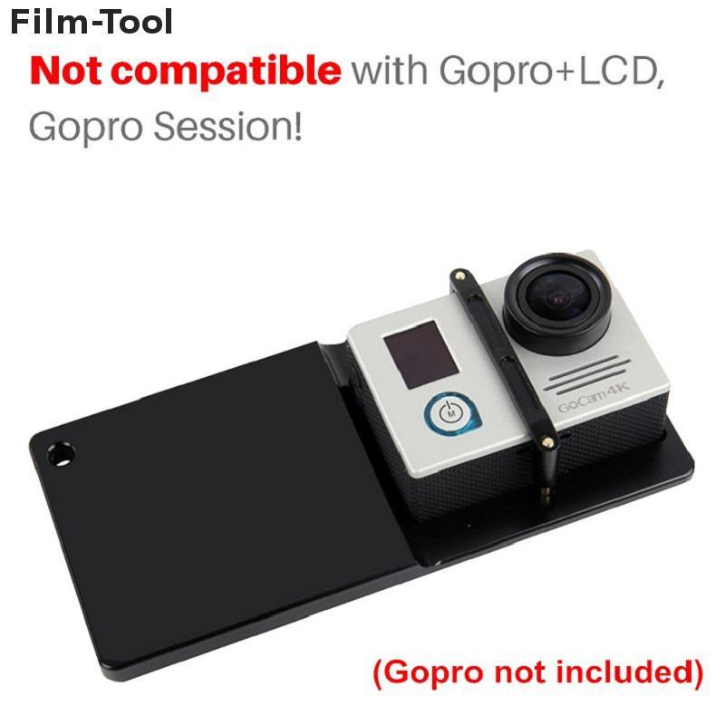 Action caméra adaptateur plaque de montage pour GoPro 5 4 3 SJCAM SJ7 xiaoyi pour DJI Osmo Zhiyun lisse Q lisse 3 poche 3 axes cardan