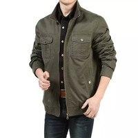 Primavera casacos de algodão casuais ao ar livre militar do exército homens jaqueta Plus Size ml XL XXL XXXL A0026