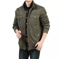 The Brand Autumn Spring Casual Mens Coats Cotton Outdoors Military Army Green Jacket Men Plus Size M L XL XXL XXXL A0026