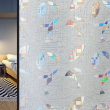 3D Laser Colorful Privacy Static Cling Vinyl Window Film No-Glue Tint Anti UV Decorative Glass Stickers