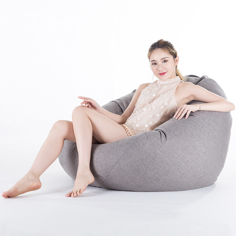 Bean Bag Cover No Filler Home Living Room Sofa Bed Lazy Casual Tatami Beanbag Chair Furniture Couch Cover Pouf Puff Line Cloth