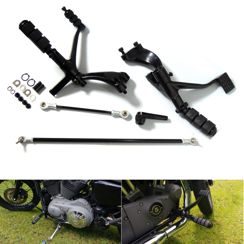 Forward Controls Complete Kit with Pegs Levers Linkages For Harley 2004-2013 Sportster 1200 883 Iron XL883N XL883L Superlow