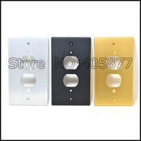 One AC Power Duple Receptacles Wall Outlet Cover Aluminum Panel Plate