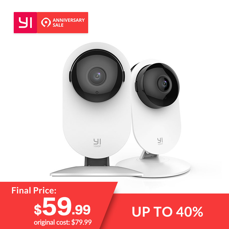 979713015 YI 2pc 1080p Home Camera Indoor Security Wireless IP Cam Surveillance  System Motion Detection Night Vision YI Cloud Available-in Surveillance  Cameras from ...