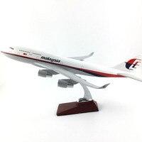 45-47 см Boeing 747 Malaysia Airlines 1:150 сплава модели самолетов Коллекция Модель Игрушечные лошадки Подарки бесплатная экспресс-EMS/ DHL/доставки