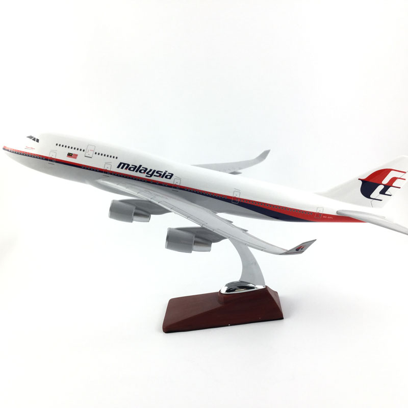 45-47CM Boeing 747 MALAYSIA AIRLINES 1:150 Alloy Aircraft Model Collection Model Toys Gifts Free Express EMS/DHL/Delivery