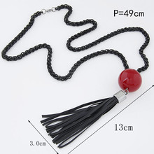 Tassel Pendant Sweater Chain Long Beads Necklace Fashion Jewelry