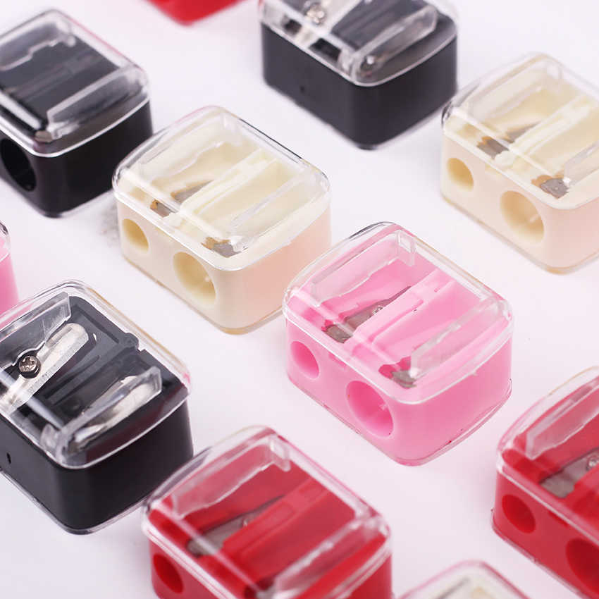 1PC Double Holes Pencil Sharpener Makeup Pencil Multi Purpose Mechanical Pencil Sharpener for Office School Supplies