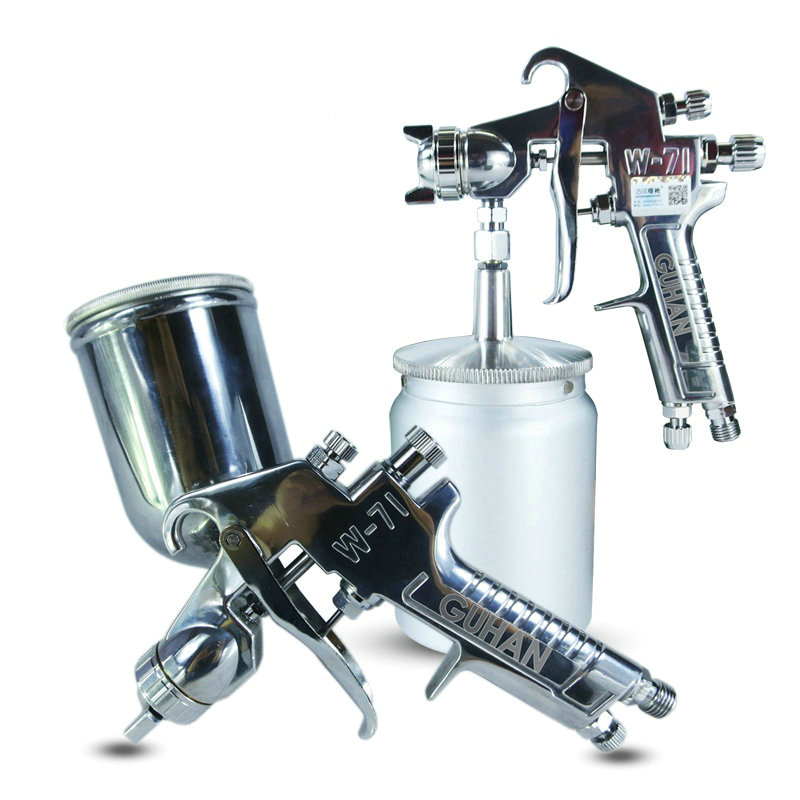 Pneumatic Spray Gun Gravity / Siphon Feed 0.5mm / 1.5mm / 2mm / 2.5mm Stainless Steel Nozzle Automotive Tools Furniture Spraying