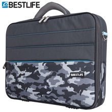 BESTLIFE 2016 Business 15.6 Laptop Bag Case Men Computer Shoulder Notebook Tablet Briefcase With Stripe Belt  Office Worker Use