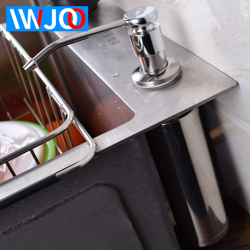 Liquid Soap Dispenser Stainless Steel Bathroom Soap Box Kitchen Sink soap Bottle foam Soap Dispenser Pump Kitchen Accessories