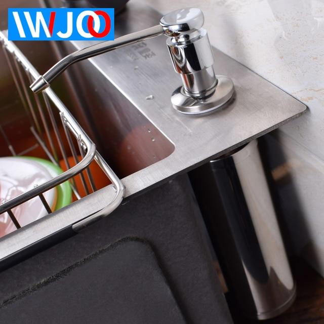Liquid Soap Dispenser Stainless Steel Bathroom Box Kitchen Sink Bottle Foam Pump Accessories