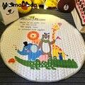 Crianças Dos Desenhos Animados Jogar Bebê Engatinhando Tapete de Jogo Tapete Almofadas Antiderrapante Rodada INS Estilos De Armazenamento Cobertor Animais Da Floresta Padrão Pad