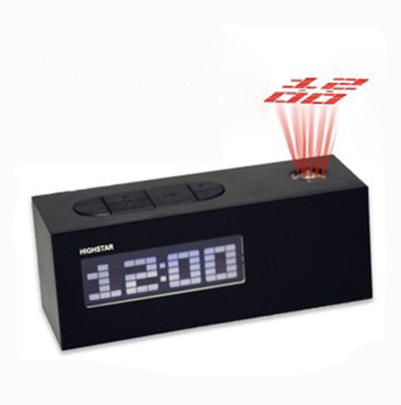 fm radio controlled digital led alarm clock snooze with projector display quality abs frozen. Black Bedroom Furniture Sets. Home Design Ideas