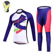 2017 QKI Women's Winter Cycling clothing Thermal fleece Long Sleeves Cycling Jersey and Cycling Long Pants a Set Maillot+Culote