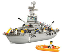 Sluban Cruiser Bricks 577PCS Sea Service Series Navy Building Blocks Construction Education Toys For Children Legoe Compatible