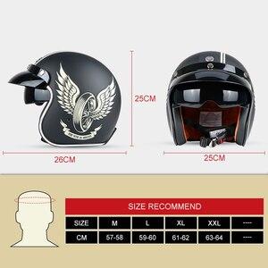Image 5 - Мотоциклетный шлем TORC T57, винтажный мотоциклетный шлем с открытым лицом 3/4, внутренний козырек, реактивный Ретро шлем, мотоциклетный шлем ECE