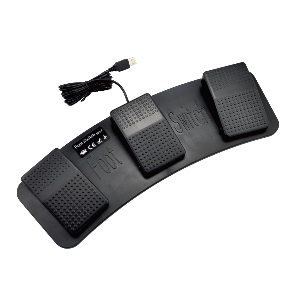 USB Foot Pedal Control Switch Keyboard Mouse For Computer PC Laptop Multiple Foot Pedals Used In Playing Games Factory Testing