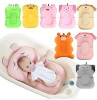 Baby Dusche Tragbare Air Kissen Bett Babys Infant Baby Bad Pad Non Slip Badewanne Matte Neugeborenen Sicherheit Sicherheit Bad sitz-in Babywanne aus Mutter und Kind bei
