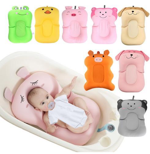 Baby Dusche Tragbare Air Kissen Bett Babys Infant Baby Bad Pad Non-Slip Badewanne Matte Neugeborenen Sicherheit Sicherheit Bad sitz
