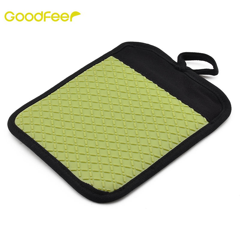 Goodfeer Silicone+Cotton Insulation Pad Cool Tool Surface Protectors Mat Heat-resistant Gloves Non-slip Pot Holder Kitchen Tools