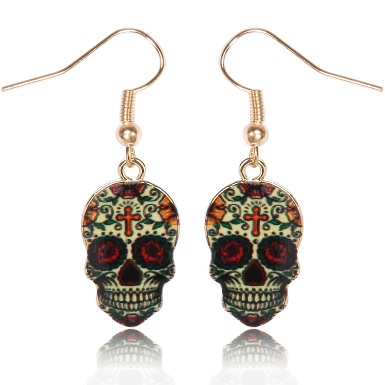 Detail Feedback Questions about Calavera Expandable Sugary sweet whimsical  skull Earrings celebrate Mexican Day of the Dead Halloween Sugar Skull  Earring 1 ... a4458e2ffd04