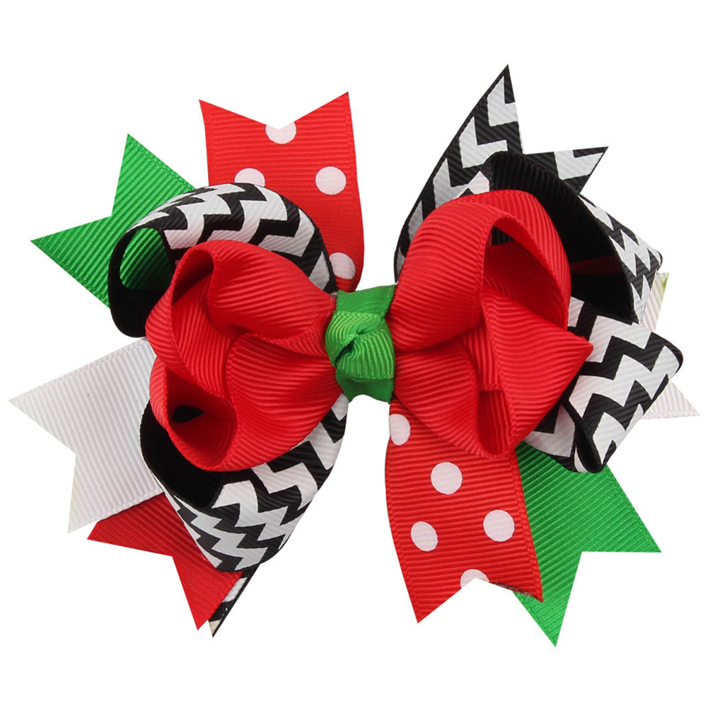 Fashion Christmas Gift Ribbon Bows Clip Snow Hair Clips Hair Pin Accessories Swallowtail Bowknot Christmas Hairpin usd1 69 pc 5inches big stacked boutique bows with 6cm hair clip hairpin 8 colors solid grosgrain ribbon bows hair accessories