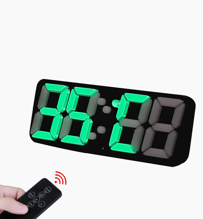 Big Number 3D LED Digital Alarm Clock Creative Remote Control Wall Clock Electronic Table Watch Voice Control Large Nixie Clock