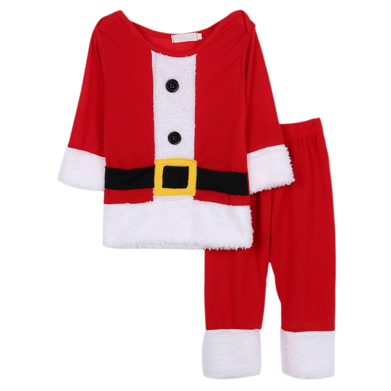Newborn Children Christmas Gift Clothing Set Baby Boys Girls Christmas Suit Dress Santa Claus Costumes Infant Cute Clothes