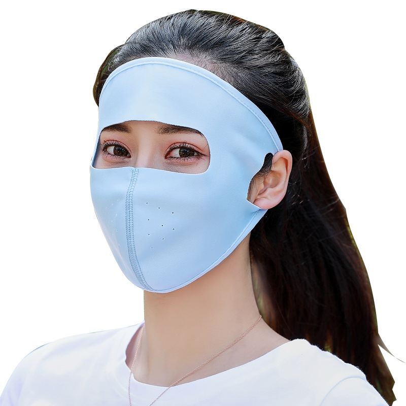 Hot Sele Motorcycle Face Mask Cycling Face Protecting Outdoor Balaclava Full Face Mask Ice Silk Thin Breathable Windproof Mask