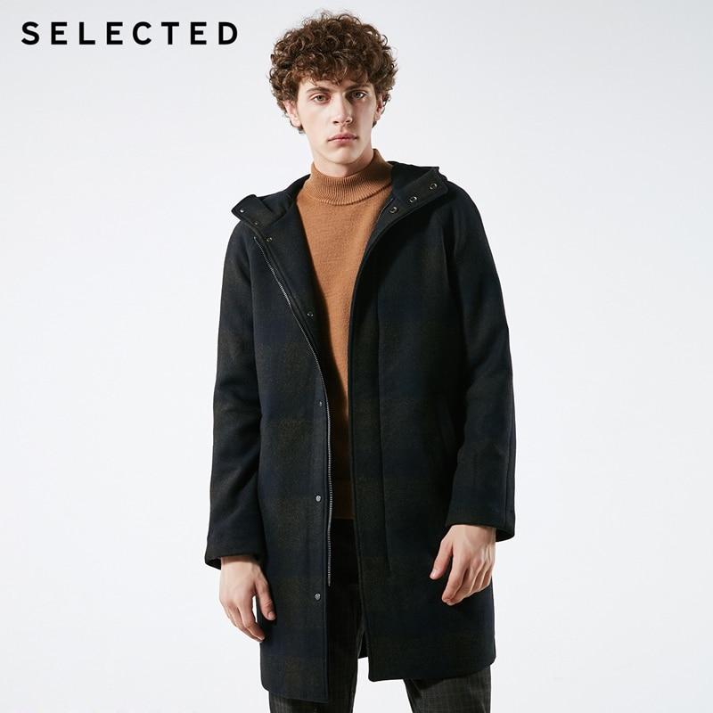 SÉLECTIONNÉ Hommes Hiver Laine-mélange de Couleurs Assorties Moyen-style manteau en laine S | 418427552