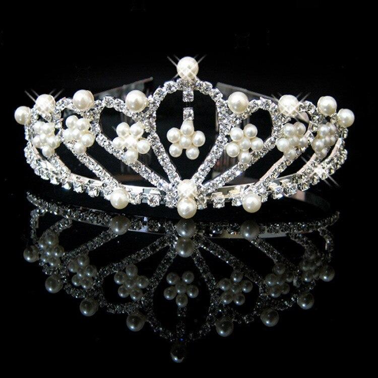 HTB1R4bwIVXXXXaTXXXXq6xXFXXXg Bejeweled Pearl And Rhinestone Crystal Bridal/Prom/Cosplay Crown Tiara - 16 Styles