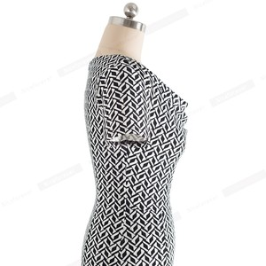 Image 5 - נחמד לנצח נשים בציר ללבוש לעבודה אלגנטית vestidos המפלגה עסקי Bodycon נדן משרד לפרוע נשי שמלת B452