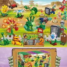 Legoings Diy Minecrafted Figures Plants Vs Zombie Sunflower Repeater Chomper Model Building Blocks Bricks Toys For Children qunlong 649pcs my world volcanic detection minecrafted model figures building blocks enlighten diy brick toys for children 0523