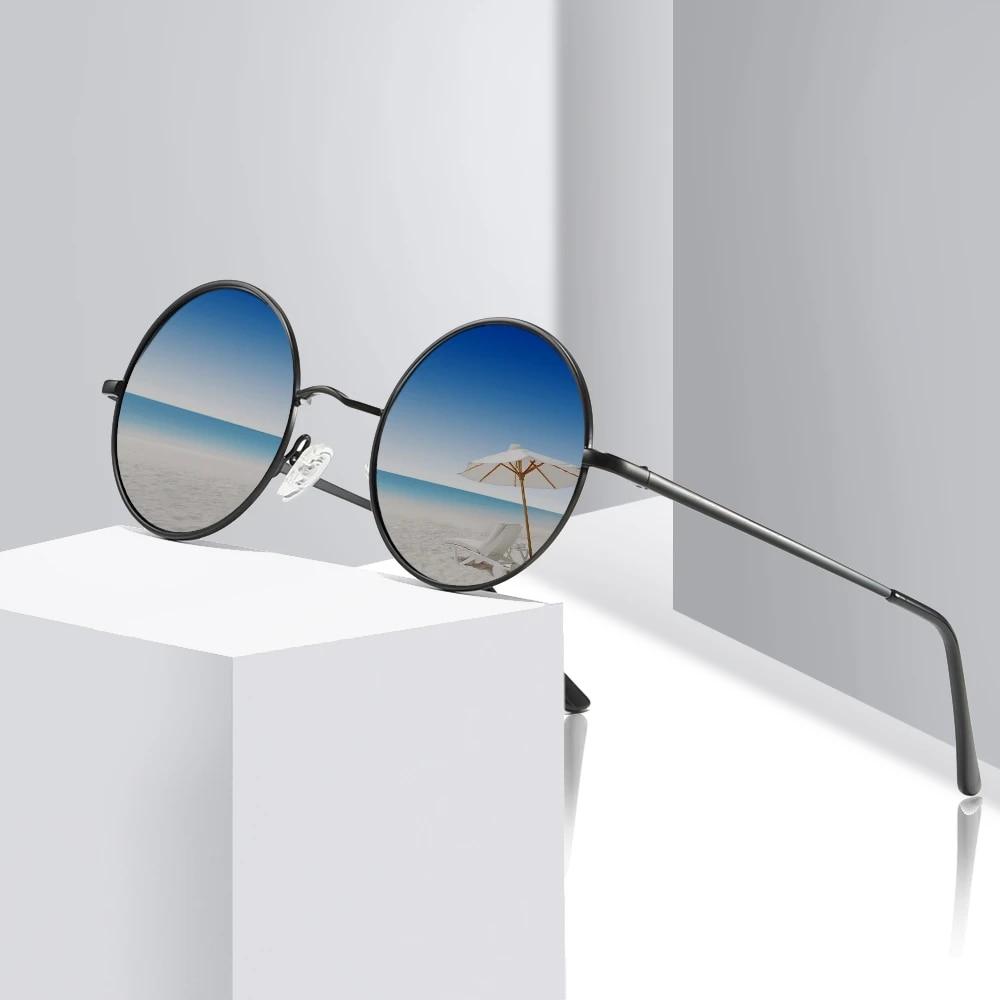 Sunglasses Women Classic Polarized Driving Glasses Round Frame Sunnies UV400