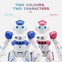 JJR/C R2 Robot Toy Dancing Robot Intelligent Gesture Control RC Robot Toy Blue Pink for Children Kids Birthday Gift USB Charging