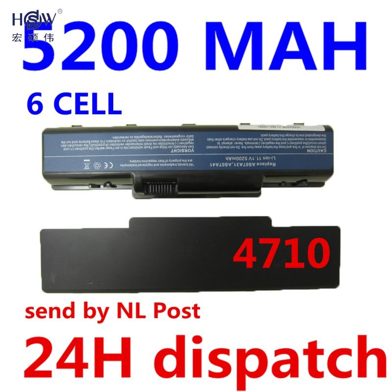 HSW 5200MAH Laptop Battery For Acer Aspire 4330 4332 4336 4520 4520G 4530 4535 4535G 4710 4710G 4710Z 4715Z 4720 4720Z 4720G da0z01mb6e0 rev e mbakd06001 mb akd06 001 for acer aspire 4720 4720z laptop motherboard gl960 ddr2
