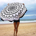 Durable Cotton Beach towel  Blanket Bohemian from india Beach Cover Up Round Hippie Tapestry Beach Throw Roundie Mandala Towel