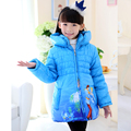 Hot Sale Children's Coats 2015 Winter Baby Girls Cinderella Coats Kids Warm Fashion Jackets Outdoor  Cotton-padded Coats Parkas