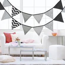12 Flags 3.2m Pennant Bunting Banners Triangular Flags Festival Baby Shower Wedding Garland Flags for Party Decoration