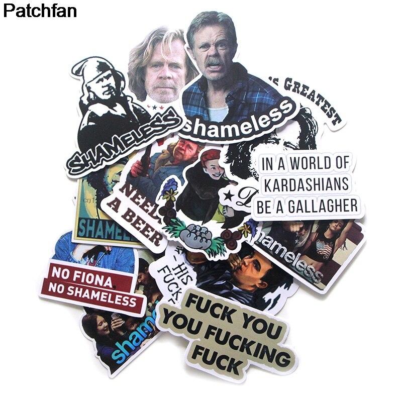 Patchfan 13pcs Shameless Funny Creative Badge DIY Decorative Stickers Kids DIY Wall Notebook Phone Case Scrapbooking Album A1923