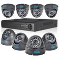 JOOAN Система 8-КАНАЛЬНЫЙ ВИДЕОНАБЛЮДЕНИЯ 960 H HDMI DVR CCTV 4 ШТ. HD 700TVL крытый Купольная Камера ВИДЕОНАБЛЮДЕНИЯ 24 Светодиодов Комплекты Главная Система Видеонаблюдения