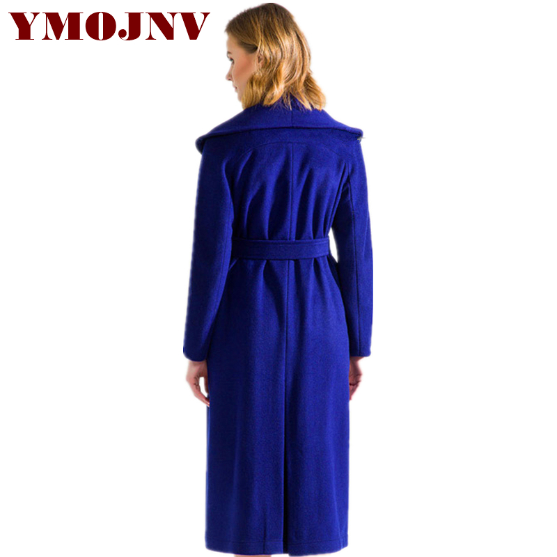 Ymojnv Abrigo Femme E Manteau 2018 Otoño Nueva Capas Marca Azul Mujeres Blue Largo Lana Medio Moda Ponchos Diseño De Las Invierno Y rBrqw4