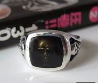 Geïmporteerde Japanse tij zilver 925 sterling zilver Thailand MS mannelijke schedel ring punk stijl