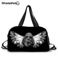 Venta al por mayor Halloween fantasma impresión Bolsas de viaje moda cráneo fresco diseñador Weekender caliente lona Bolsas para hombres adolescente masculino whosepet
