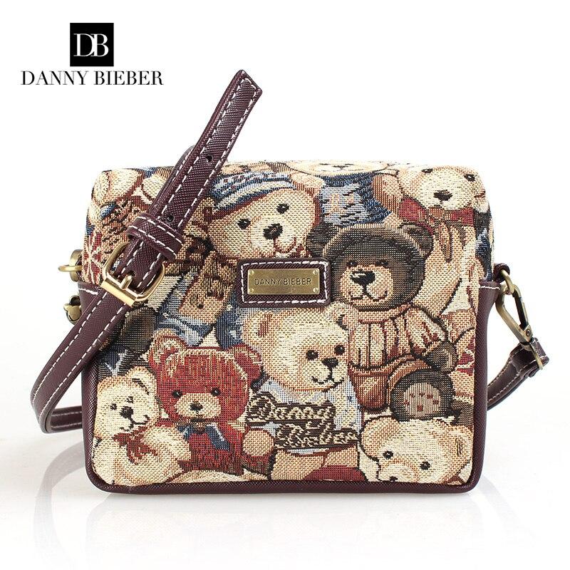 Danny Bieber Women Bag Fashion Women Messenger Bags Ms leisure canvas aslant sin