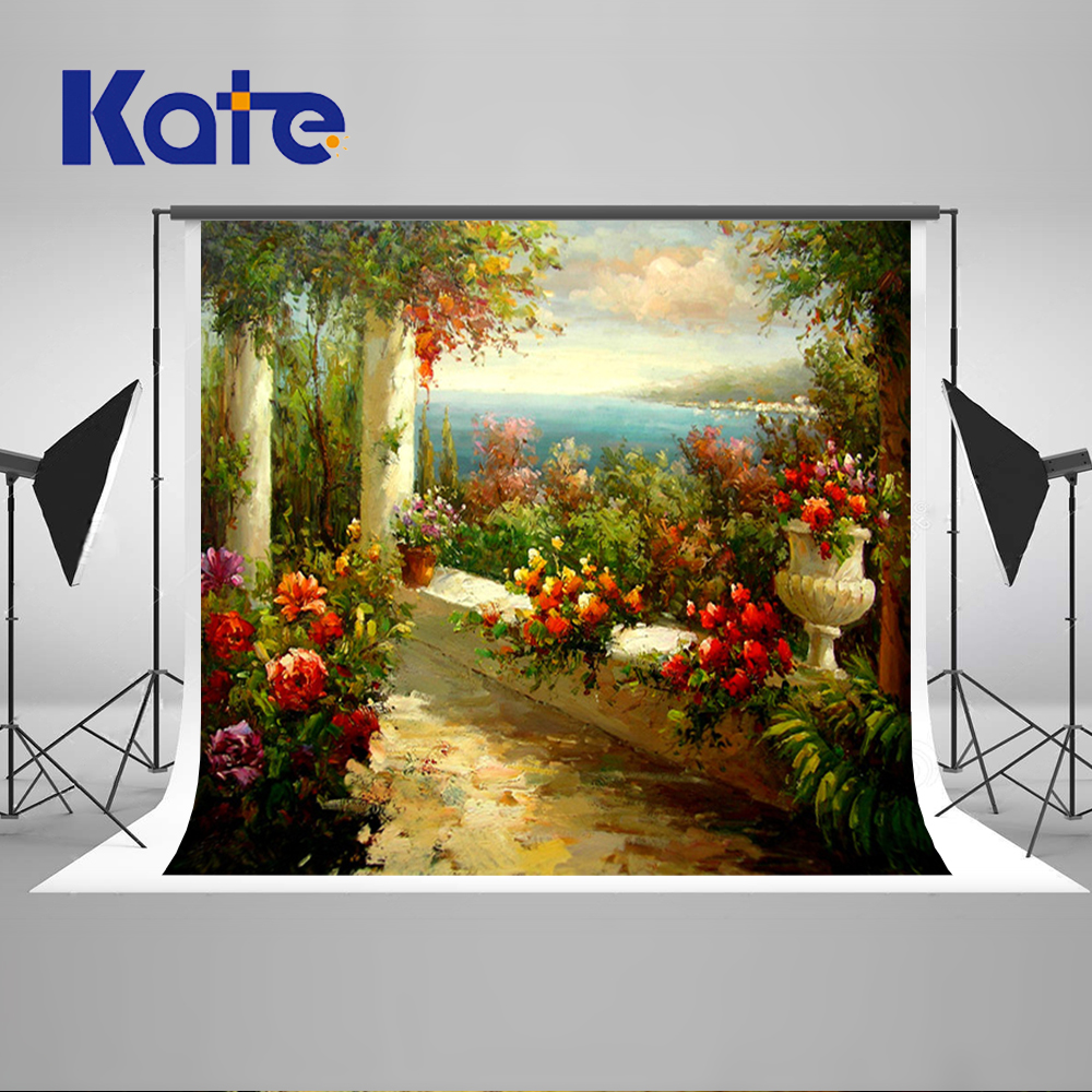 150X220CM Kate Scenic Photography Backdrops Backgrounds for Photo Studio Flowers Summer  Photo Background Photography Backdrops kate backdrop for photography beach ocean wedding series background photo studio seaside scenic backdrops